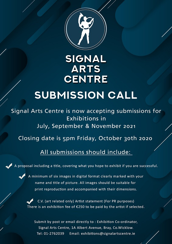 Signal Arts Centre Submission Call 2021