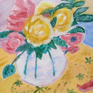 Ann Johnson – Vase of Roses