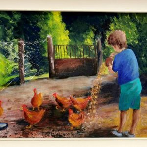 14. Maeve Spotswood – Feeding the Chickens