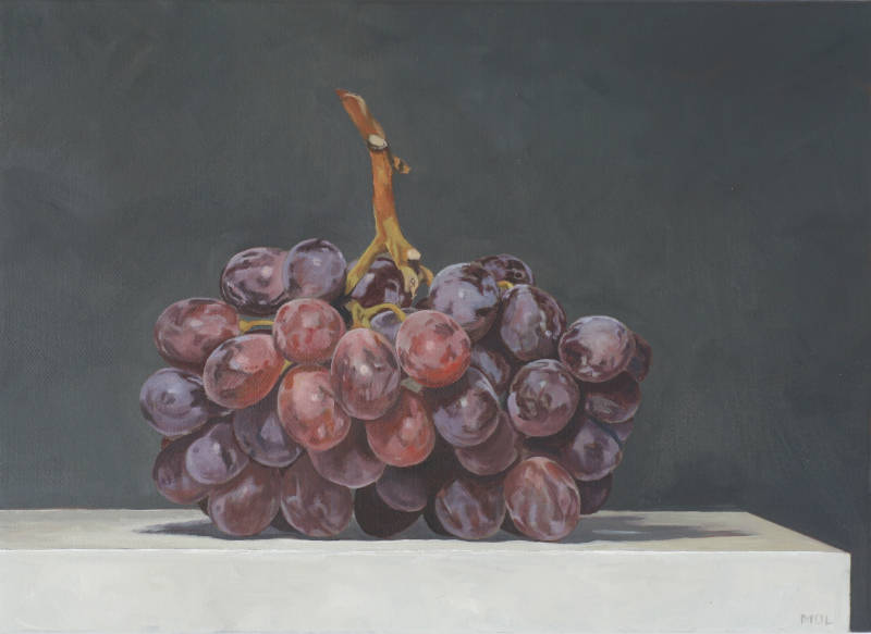 Michael O'Leary - Red Grapes on Plinth